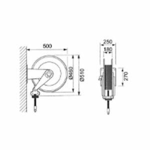 Gespasa Retractable Diesel Hose Reel